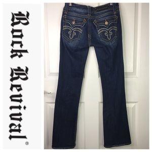 ❄️ Rock Revival Deborah Bootcut Jeans 31 Altered